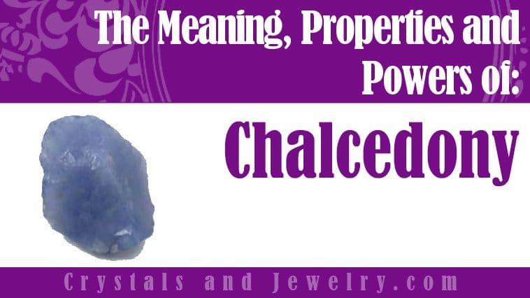 Chalcedony jewelry