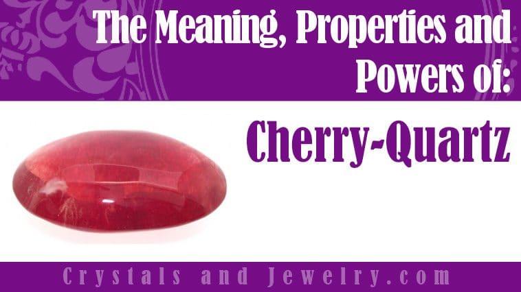 Cherry Quartz for protection