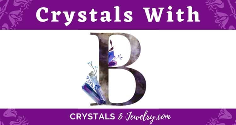 Crystals with B