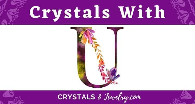 Crystals with U
