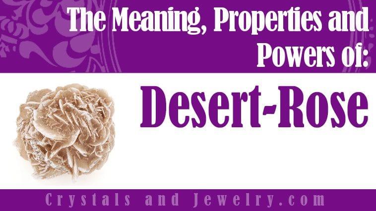 Desert Rose jewelry