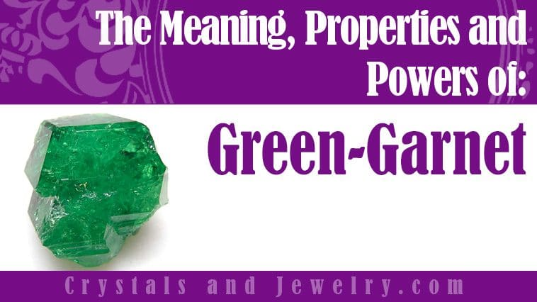 Green Garnet for luck and wealth