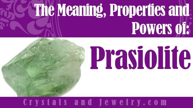 Prasiolite jewelry