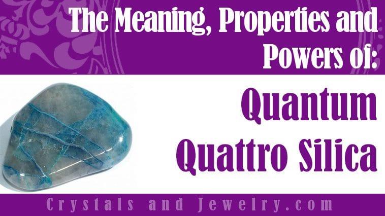 Quantum Quattro Silica jewelry