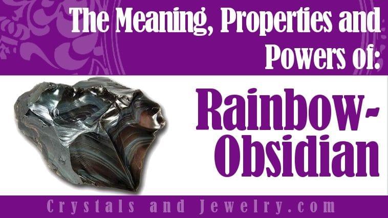 Rainbow Obsidian jewelry