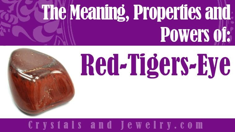 Red Tigers Eye for luck and wealth