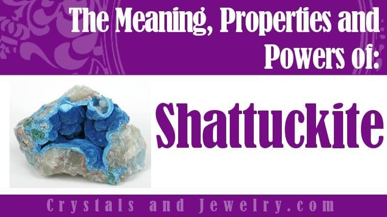 Shattuckite jewelry