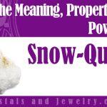 Snow Quartz for love