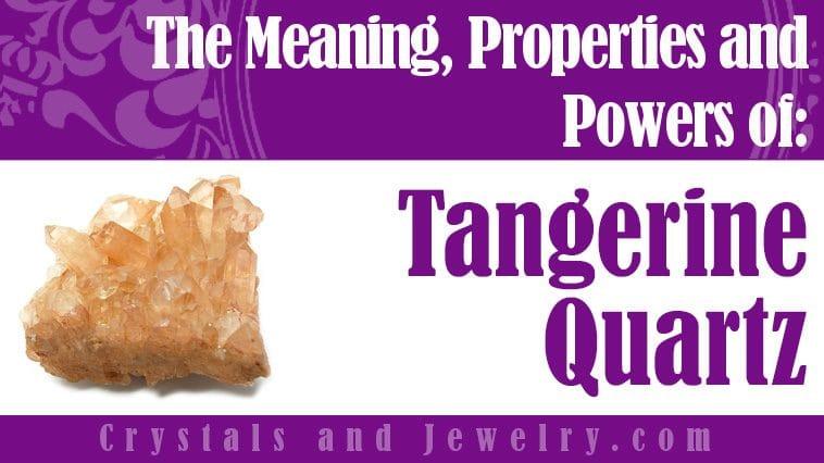 Tangerine Quartz for love