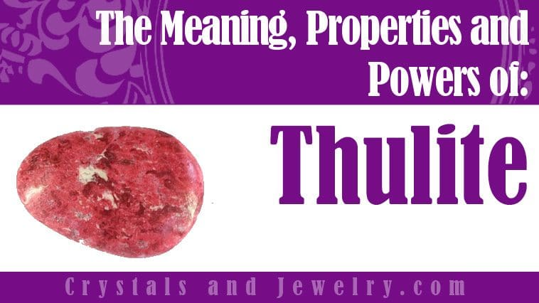 Thulite jewelry