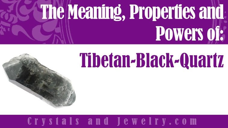Tibetan Black Quartz for love