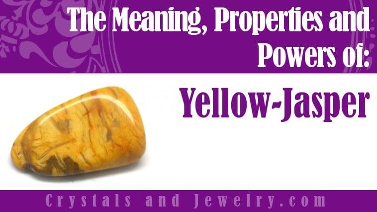 Yellow Jasper jewelry