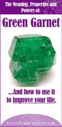 green garnet meaning
