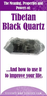 tibetan black quartz meaning