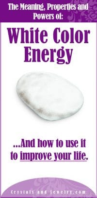 white color energy meaning