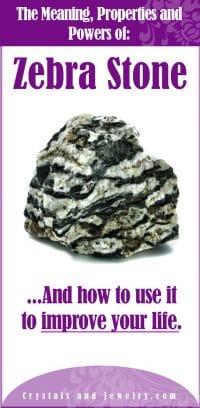 zebra stone meaning