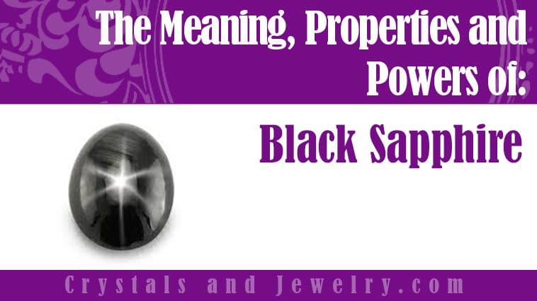 black sapphire meaning properties powers