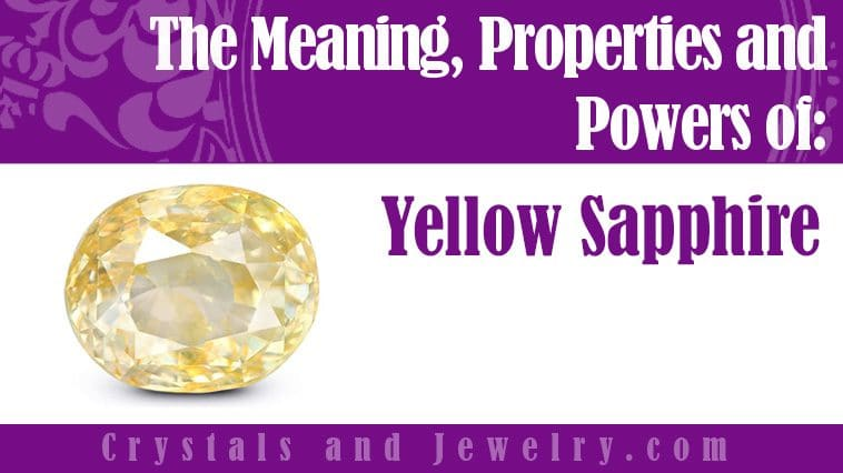 yellow sapphire meaning