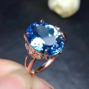 A dazzling Blue Topaz ring