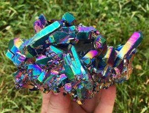 A beautiful piece of Titanium Aura Quartz stone