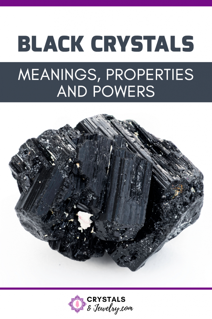 Black Crystals Pin