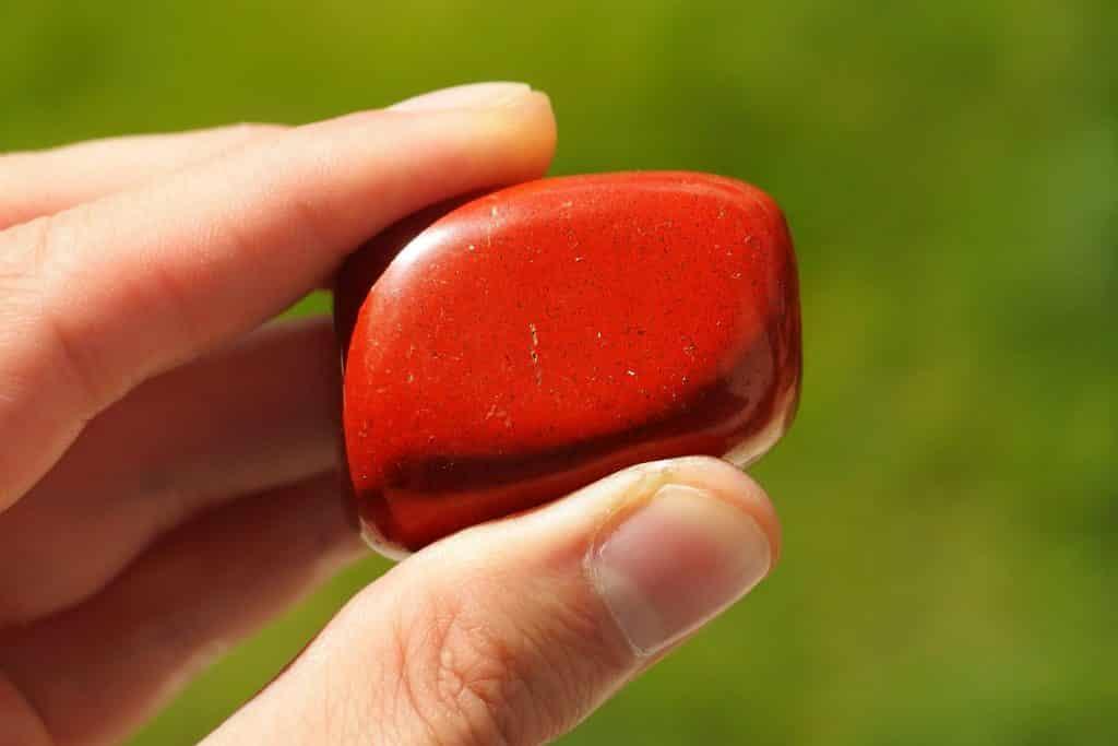 Red Jasper In Hand