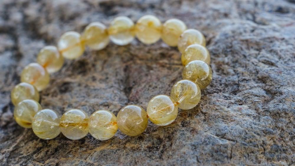 Rutilated Quartz Beads