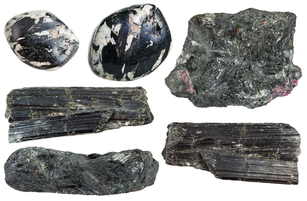 Set of Aegirine Crystals