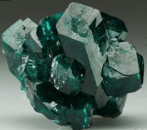 A splendid piece of Dioptase stone