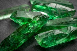 Delicate pieces of Emerald stone