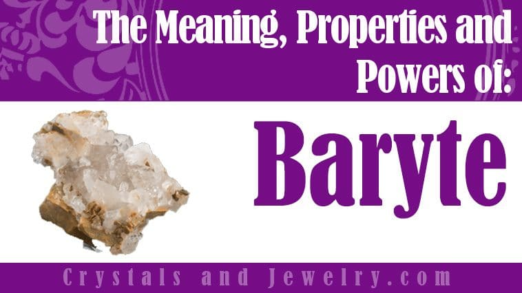 Baryte Meaning Properties Powers