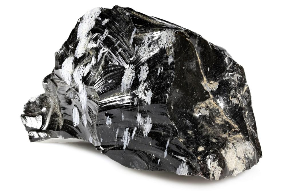 Raw Rough Snowflake Obsidian