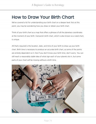 How To Draw Birth Chart