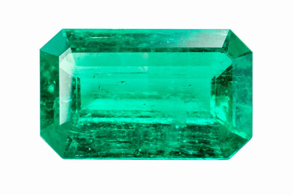 Cut Emerald Stone
