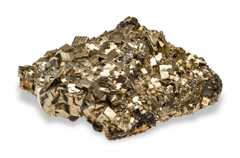 rough piece of pyrite